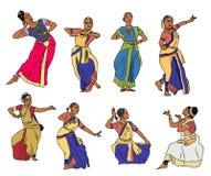 Vector indian dancers Stock Photos