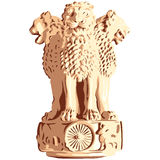 vector Indian emblem of Ashoka Lions Royalty Free Stock Images