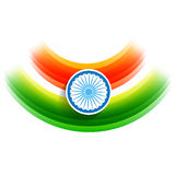 Vector indian flag background. Beautiful stylish indian flag vector background Royalty Free Stock Photo
