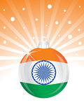 Vector indian flag in ball Stock Photos