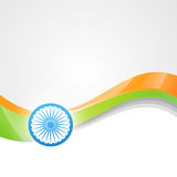 Vector indian flag design art Royalty Free Stock Photography