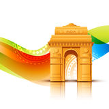 Vector indian flag design. Indian backgorund with space for your text royalty free illustration