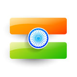 Vector indian flag design Royalty Free Stock Photo