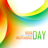 Vector indian flag design. Stylish colorful indian background with space for your text Royalty Free Stock Photography