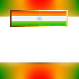 Vector indian flag. With space for your text vector illustration