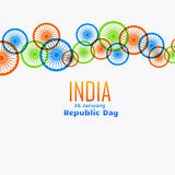 Vector indian flag wheel design Royalty Free Stock Photography