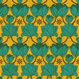 Vector indian floral seamless pattern Stock Image