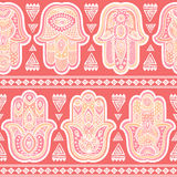 Vector Indian hand drawn hamsa seamless pattern Stock Photography