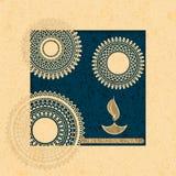Vector holiday postcard. diwali festival of lights. hindu design with mandala Stock Image