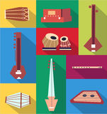 Vector indian instruments Royalty Free Stock Photography
