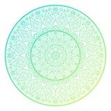 Vector indian Mandala. Ornament beautiful card with mandala. Geometric circle element made in vector Royalty Free Stock Photo