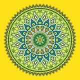 Vector indian Mandala. Ornament beautiful card with mandala. Geometric circle element made in vector Royalty Free Stock Photos