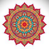 Vector indian Mandala. Ornament beautiful card with mandala. Geometric circle element made in vector Royalty Free Stock Photography