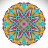 Vector indian Mandala. Ornament beautiful card with mandala. Geometric circle element made in vector Stock Images