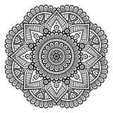 Vector indian Mandala. Ornament beautiful card with mandala. Geometric circle element made in vector Stock Photos