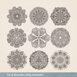 Vector Indian ornament, kaleidoscopic floral pattern, mandala. S Royalty Free Stock Photography
