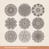 Vector Indian ornament, kaleidoscopic floral pattern, mandala. S Stock Photos