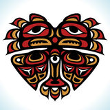 Vector Indian pattern in the shape of heart Royalty Free Stock Photos