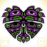 Vector Indian pattern in the shape of heart Royalty Free Stock Photography