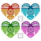 Vector Indian pattern in the shape of heart Royalty Free Stock Image