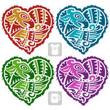 Vector Indian pattern in the shape of heart Royalty Free Stock Images
