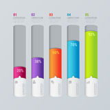 Vector indicator chart graphic infographics mockup template Royalty Free Stock Photography