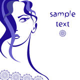 Vector indigo girl Royalty Free Stock Images