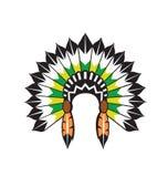 Vector indio nativo del tocado