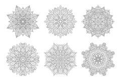 Vector Indisch decoratief patroon Uitstekend decoratief ornament royalty-vrije stock foto's