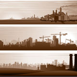 Vector Industrial Backgrounds and Urban Landscapes Royalty Free Stock Photo