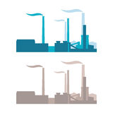 Vector industrial buildings, plants and factories Royalty Free Stock Images