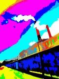 Vector industrial de las chimeneas Imagen de archivo