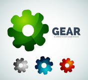 Vector industrial gear abstract icons Royalty Free Stock Photos