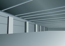 Vector industrial hall. In modern industrial hall vector Royalty Free Stock Image