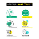 Vector industrial icon concept  on white background. Royalty Free Stock Photos