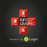 Vector industrical square metallic infographic Stock Photos