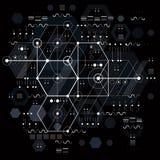 Vector industriellen und Technikhintergrund, zukünftiges technisches p Lizenzfreie Stockbilder