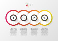 Vector infinity element for infographic. Modern template Royalty Free Stock Photos