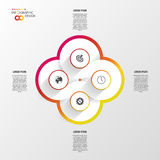 Vector infinity element for infographic. Modern template Royalty Free Stock Image