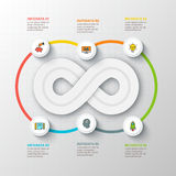 Vector infinity element for infographic. Royalty Free Stock Photo