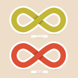 Vector Infinity Symbols. Red and Green Paper Vector Infinity Symbols Royalty Free Stock Photo