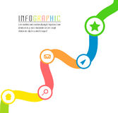 Vector info graphic path with different colors and symbols to succes project Royalty Free Stock Images
