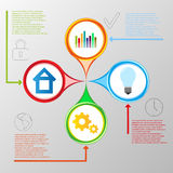 Vector info graphic template Royalty Free Stock Image