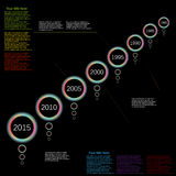 Vector info graphic time line color light effect Royalty Free Stock Image