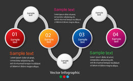 Vector info graphics for your business presentations. Can be used for info graphics, graphic vector, numbered banners, web design Royalty Free Stock Photo
