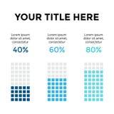 Vector infographic, диаграмма диаграммы, представление диаграммы Шаблон дела с 3 вариантами, частями, шагами, процессами 40, 60 Стоковое Изображение