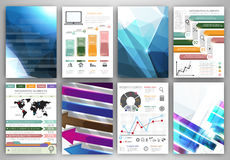 Vector infographic and abstract backgrounds Stock Photos