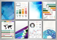 Vector infographic and abstract backgrounds Royalty Free Stock Photo