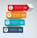 Vector infographic arrow template. Business growth concept with 4 options. Vector infographic arrow template. Business growth concept banner with 4 options. Can Royalty Free Stock Image