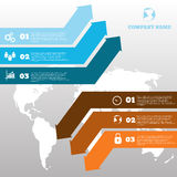 Vector infographic arrows design template for web brochure graph Royalty Free Stock Photos
